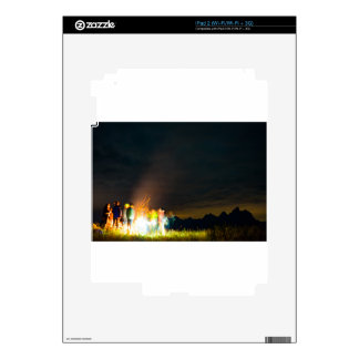 Camping in front of the Teton Range Skins For iPad 2