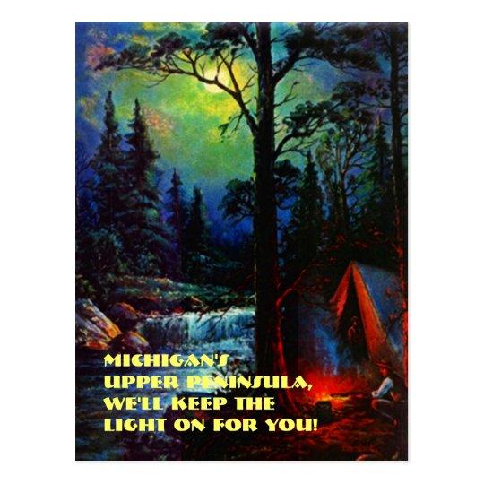 Camping In Michigan S Upper Peninsula Mi Postcard Zazzle Com