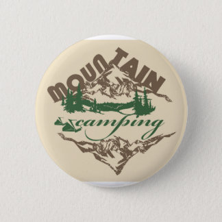 Camping in Mountain Pinback Button