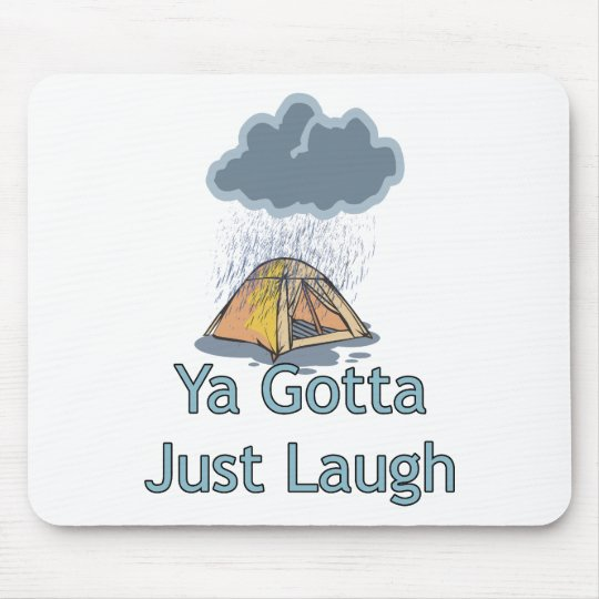 Camping in the Rain Mouse Pad