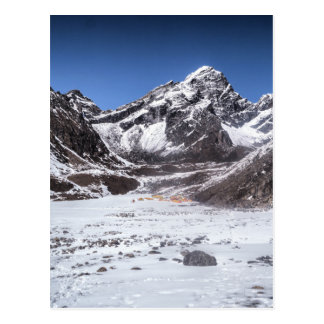 Camping in the Snowy Mountains (Himalayas) Postcard