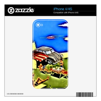Camping iPhone 4S Decal