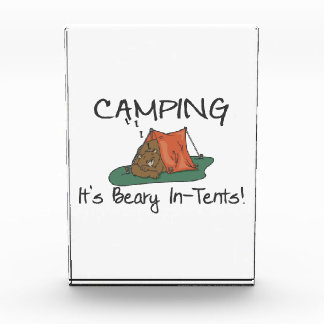 Camping Is Beary In Tents Acrylic Award