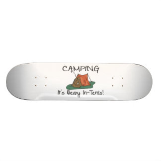 Camping Is Beary In Tents Skateboard Deck