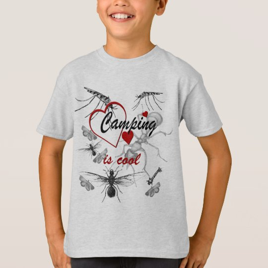 Camping is Cool Funny Kids Tagless T-shirt
