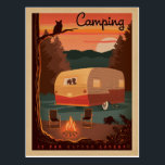 "Camping is for Nature Lovers Postcard<br><div class=""desc"">Anderson Design Group is an award-winning illustration and design firm in Nashville,  Tennessee. Founder Joel Anderson directs a team of talented artists to create original poster art that looks like classic vintage advertising prints from the 1920s to the 1960s.</div>"