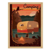 Camping is for Nature Lovers Postcard