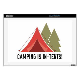"""Camping Is In-Tents! 17"""" Laptop Skins"""