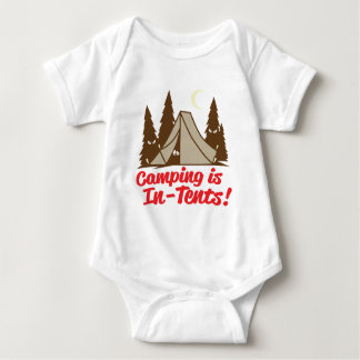 Camping Is In-Tents Baby Bodysuit