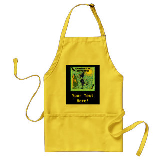 Camping Is In Tents Design Adult Apron