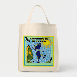 Camping Is In Tents Design Tote Bags