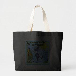 Camping Is In Tents Design Jumbo Tote Bag