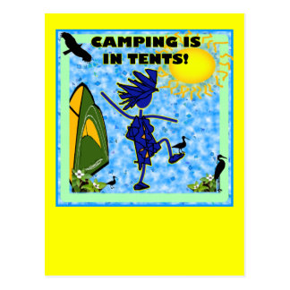 Camping Is In Tents Design Post Card