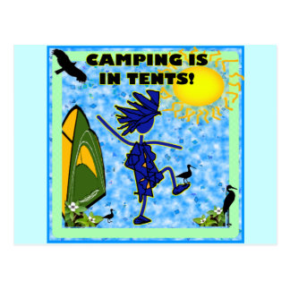 Camping Is In Tents Design Postcard