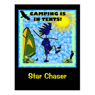 Camping Is In Tents Design Postcards