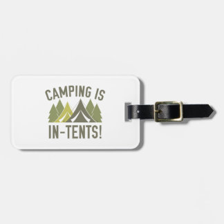 Camping Is In-Tents! Luggage Tag