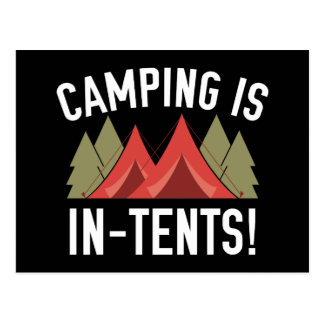 Camping Is In-Tents! Postcard