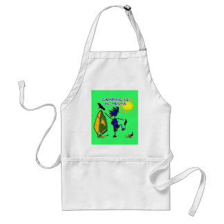 Camping Is (Intense) In Tents Adult Apron