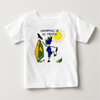 Camping Is (Intense) In Tents Baby T-Shirt