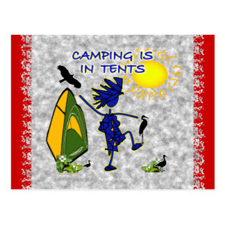 Camping Is (Intense) In Tents Postcard