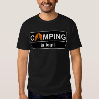 Camping is legit shirt