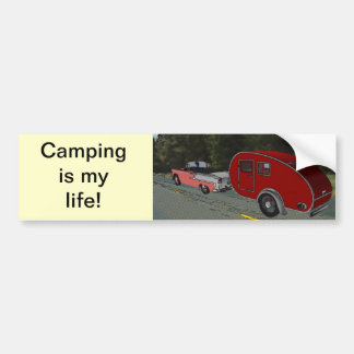 Camping Is My Life Bumper Sticker