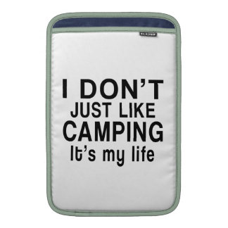 CAMPING IS MY LIFE MacBook SLEEVES