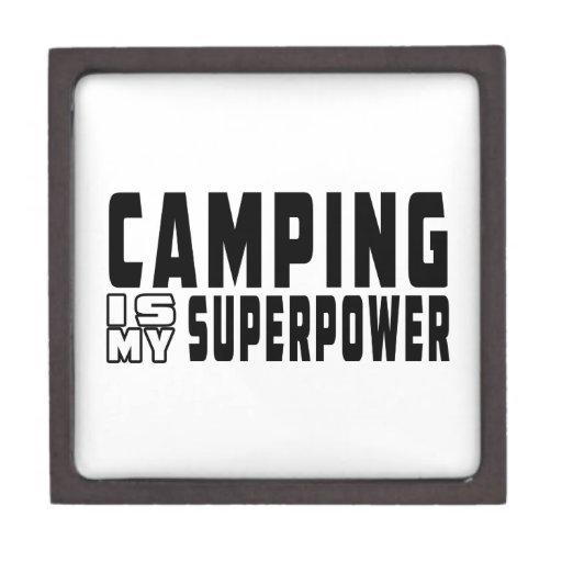Camping is my superpower premium keepsake box