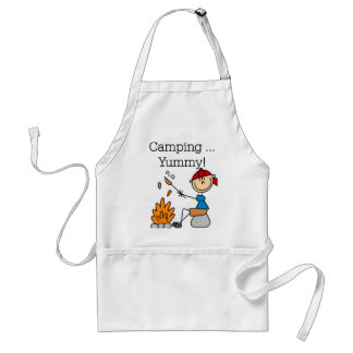 Camping is Yummy Adult Apron