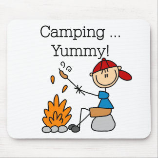 Camping is Yummy Tshirts and Gifts Mouse Pad