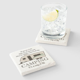 Camping: It's A Way of Life Stone Coaster
