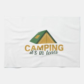 Camping It's In Tents Hand Towel