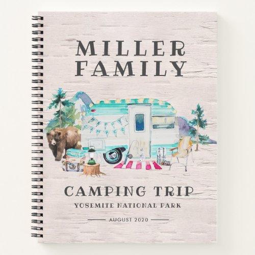 Camping Journal  Custom Road Trip Journal