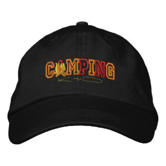 Camping Kid Embroidered Baseball Hat