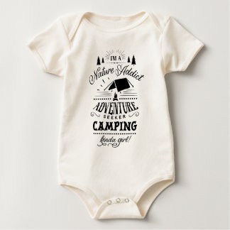 Camping Kinda Girl Baby Bodysuit