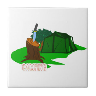 Camping knife and tent ceramic tile