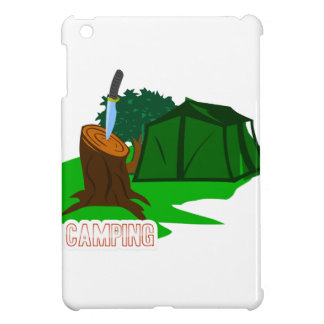 Camping knife and tent iPad mini covers