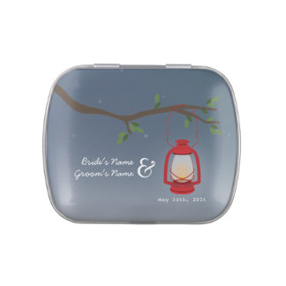 Camping Lantern Evening Wedding Jelly Belly™ Tin Jelly Belly Tins