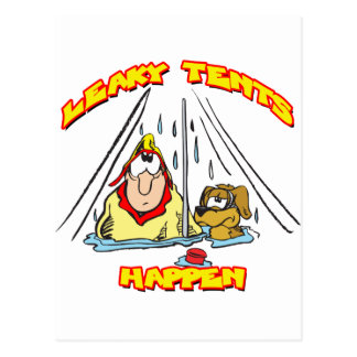 Camping-LeakyTents Postcards
