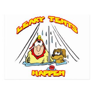 Camping-LeakyTents Postcard