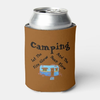 Camping Let The Beer Flow Can Cooler