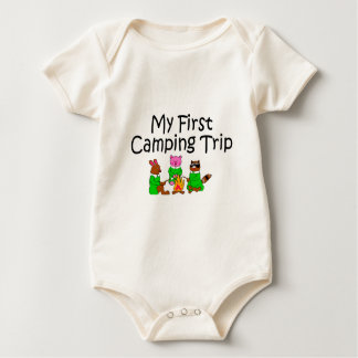 Camping My First Camping Trip Baby Bodysuit