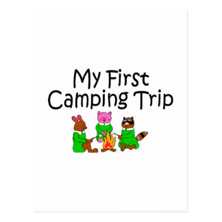 Camping My First Camping Trip Postcard