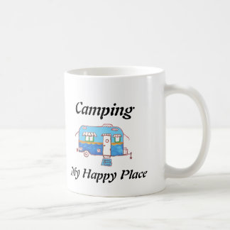 Camping My Happy Place Classic White Coffee Mug