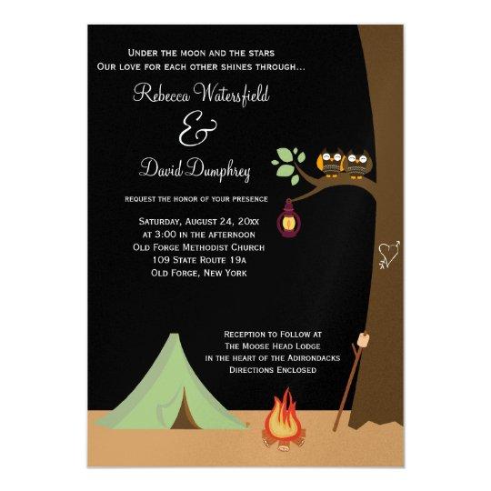 Camping Theme Invitations: Camping Nature Theme Wedding Invitation