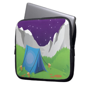 Camping - Night Time Computer Sleeves
