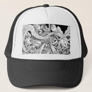 Camping night. trucker hat