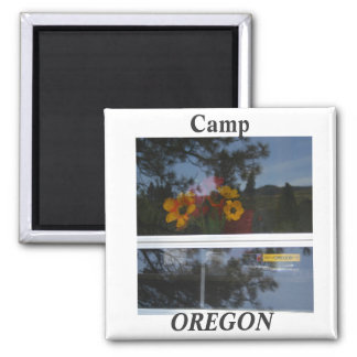 Camping Oregon style Refrigerator Magnets