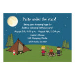 Camping Out Party Custom Invitations