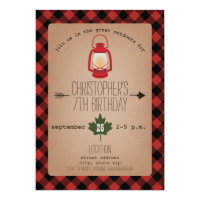 Camping / Outdoors Wilderness Birthday Party Card